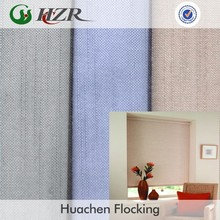 Nonflammable Polyester bamboo face linen fabric for home decoration blackout door curtain fabric