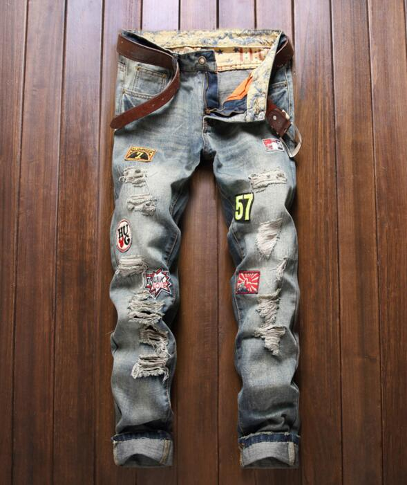 Z82177B newest jeans pants men wholesale cheap denim ripped jeans pent