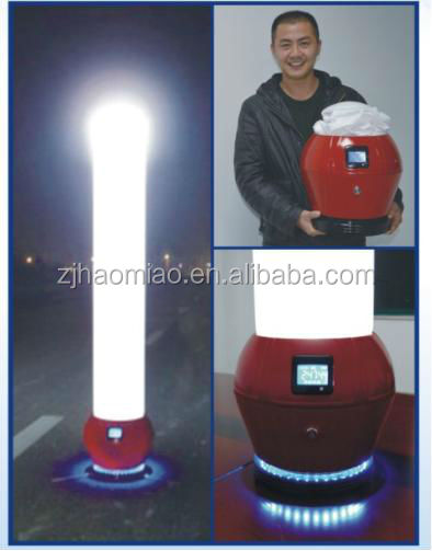portable handhold led balloon light tower rechargeable battery led mini inflatable light tower