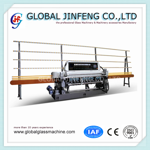 JFB-371 11 motors  Automatically Used Glass mirror straight line beveling grinding machine with CE