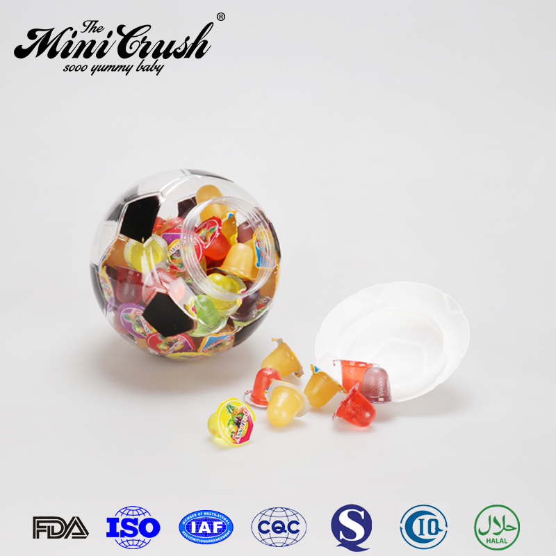 World Cup Soccer Ball Fruit Jello Jelly Cup