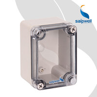 CE Small Outdoor Electric Box Transparent/Clear Lid/Cover Plastic Meter Box