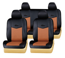 two colors PVC leather car seat cover in black and orange seat cover for Land Cruiser/GMC/Sonata/Tucson car seat cover T-029