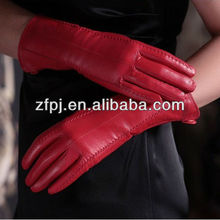2017 best sale plain red fancy hand leather gloves for bike