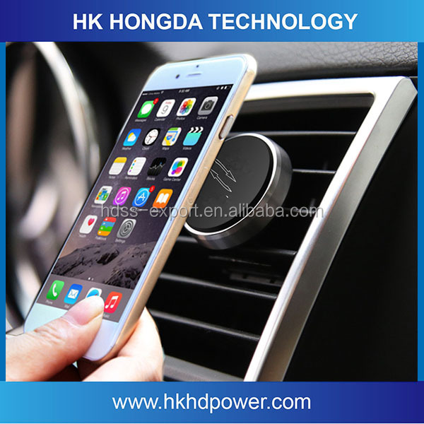 New Products 2016 Magnetic Phone Holder Car Air Vent Mount for iPhone 6s&plus smart mobile cell phone