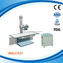 MSLCX27P X ray machine with table and bucky stand