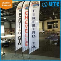 factory made cute cartoon car side swooper flags for road side beach flag&teardrop banner printing