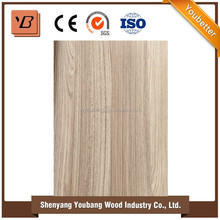 Laminate wood grain sheet for kitchen cabinet