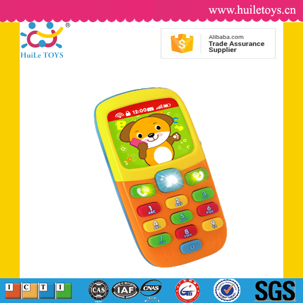 2016 Huile kid musical phone toys with light