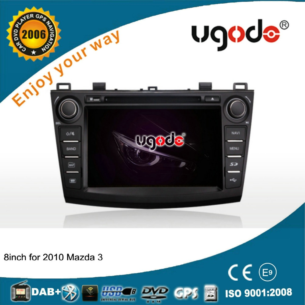 ugode wholesale 8 inch 2 din car dvd player with gps for Mazda 3 2010-2013 with wince 6.0 system