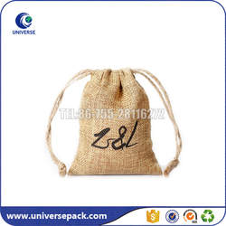 fashion jute custom printed jewelry pouch wholesale