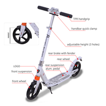 2017 new popular E scooter 2 wheels foldable aluminum adult scooter for sale