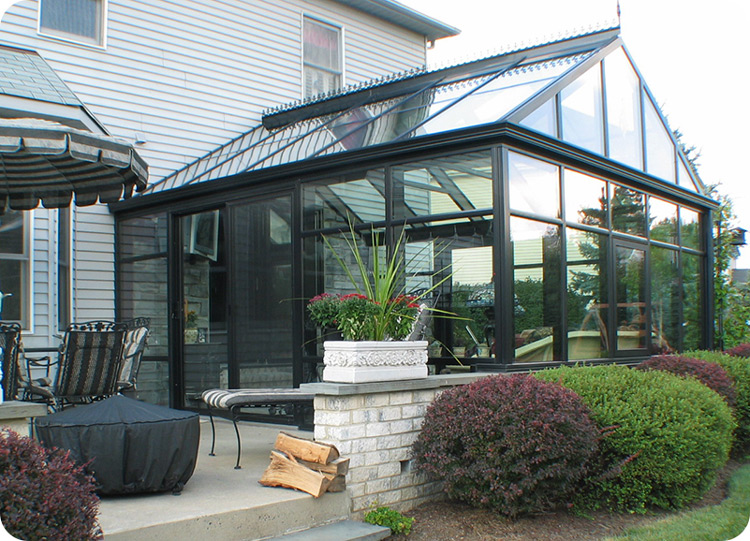 Low price of aluminum profile for garden sunrooms