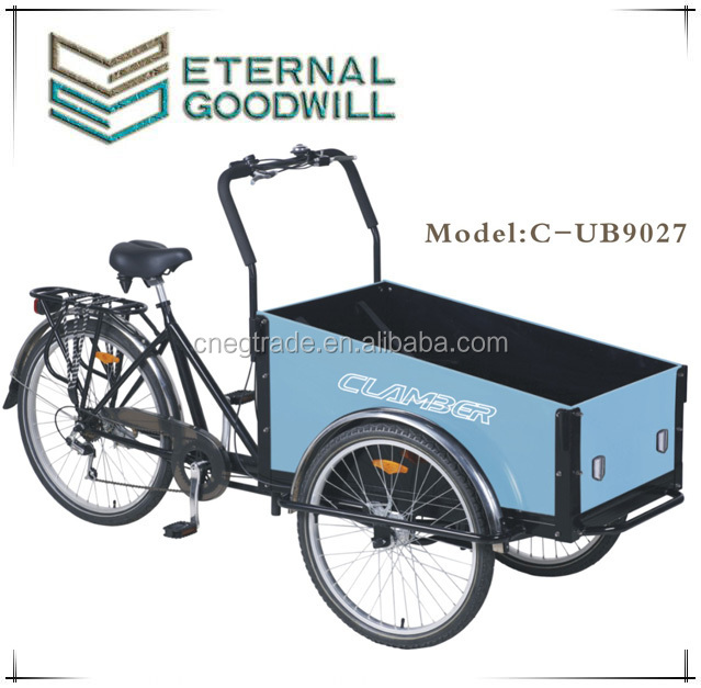 2015 popular Electric cargo bike cargo tricycle cargo trike front box carry kids