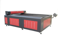 Transon TS1530 flatbed laser cutting machine for large format tailoring, garments, shoemaking, leather industry etc.