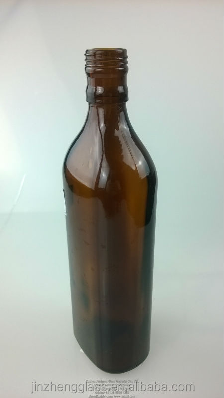 500 ml Amber glass bottle for wine, beverage and alcohol packing