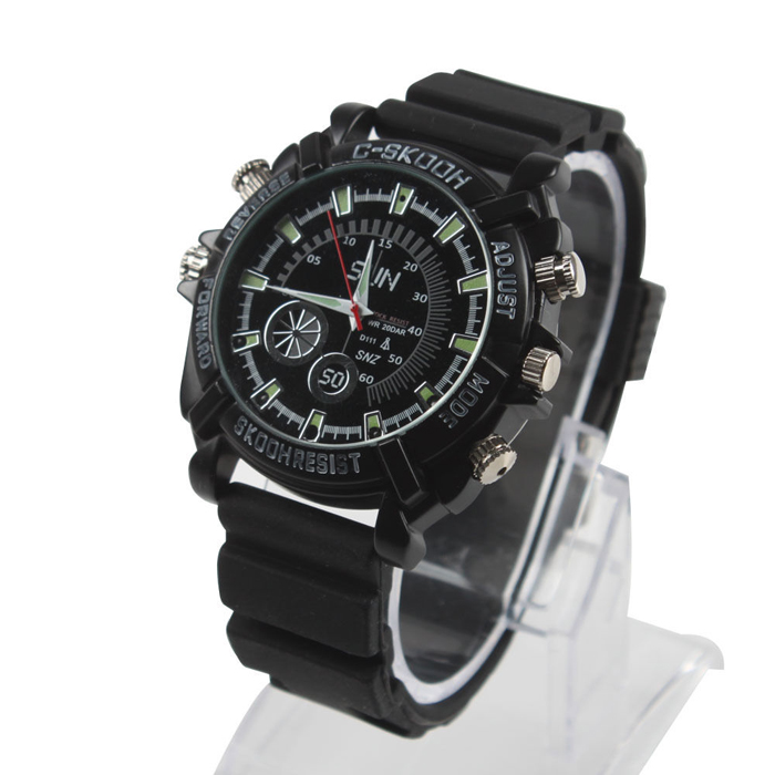1080P FULL HD <strong>W1000</strong> Bullet style body camera invisible Wrist Watch Portable Body Hand wear Camera