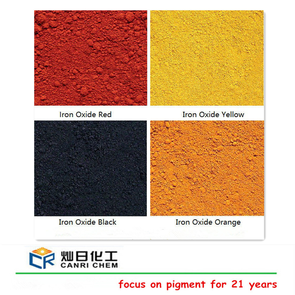iron oxide black/red/yellow/blue/green/orange in oxide pigment for rubber floor / interlocking rubber tile/ ceramic glaze color