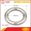30mm zinc alloy O ring, round ring buckle for handbags accessories
