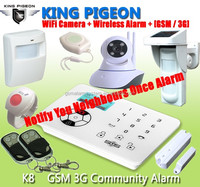 Wireless gsm house alarm, home defense gsm alarm system K8