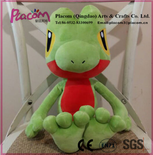 Cheap Cute High-quality Official Treecko Pokemon Game Doll Center Nintendo Plush Toy for Wholesale