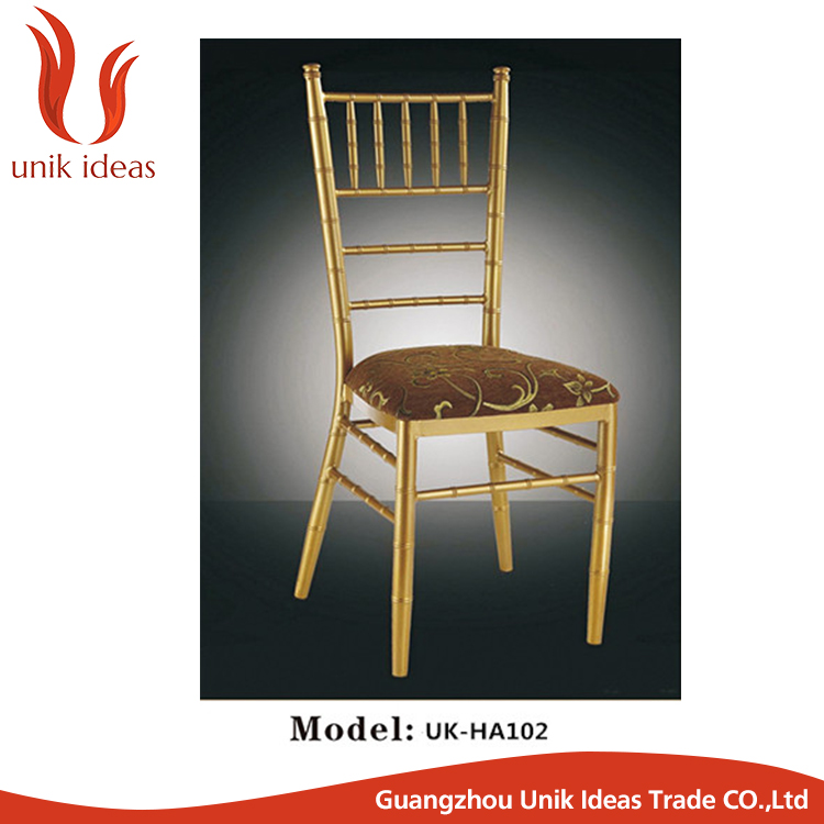gold tiffany chavari chair with cushion for hotel wedding events