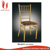 Gold Tiffany Chavari Chair With Cushion