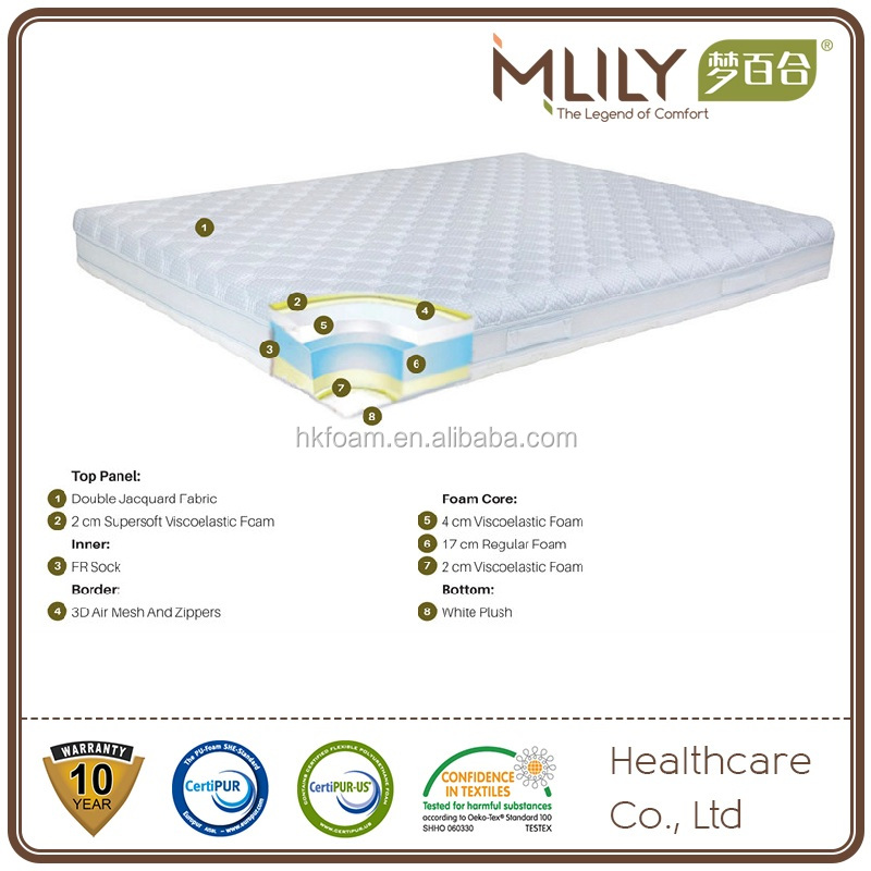 March Expo 10'' OEM Memory foam mattress Certipur-US