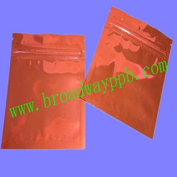 custom printed ziplock metalized aluminum foil bag for seed