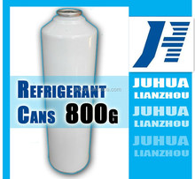 800g small can packing R134a refrigerant R134a car refrigerant tetrafluoroethane juhua produced