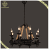 E14*8 home design round fancy wall mounted vintage hemp rope chandelier