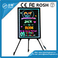 Top selling led advertising display neon fluorescent board reusable with 90 flashing modes
