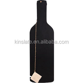 Large Wine Bottle slate hang tags with bottle shape