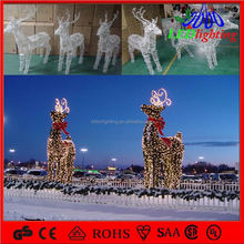 new product promotional gift merry christmas decoration christmas decoration outdoor santa in sleigh
