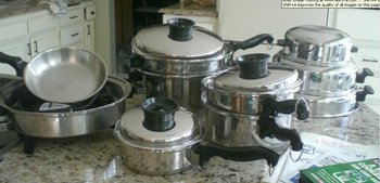 TOWNECRAFT CHEFS WARE STAINLESS WATERLESS COOKWARE SET