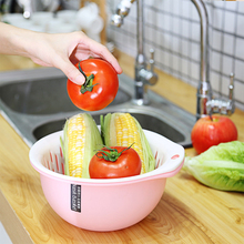 Wholesale pp plastic kitchen cheap washing food basket sieve drain strainer basket plastic colander with handle