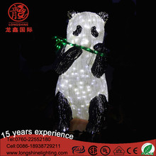Lighted acrylic sculpture animal LED 3D panda light for decoration