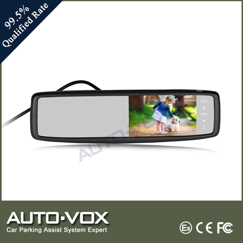 Clip-on wireless auto rearview mirror with waterproof camera