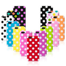 For iphone 5c A-Polka-Dot oems mobile phone case, unique tpu case for iphone 5s