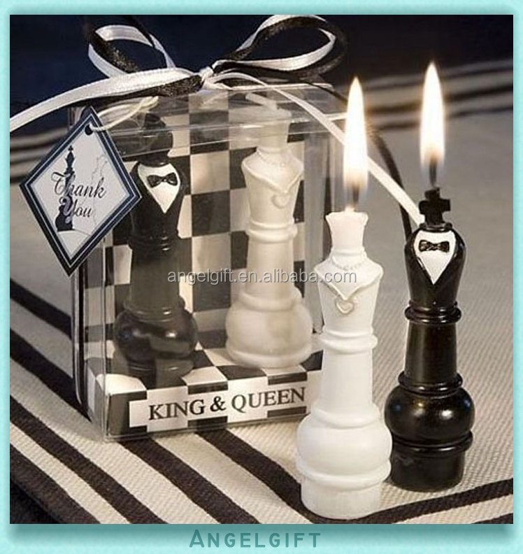 Wedding Baby Shower Favors Chess Art Candle