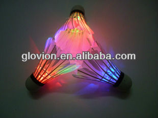 Fashion badminton shuttlecock for night,LED lighting badminton,led flashing shuttlecock