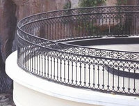 2016 Hot sell balcony wrought steel grill designs