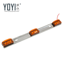 LED 3-Light Stainless Steel Identification Light Bar Thin Line light Bar For Truck and Trailers