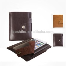 High Quality Handmade Genuine Leather Laptop Bag for Blackberry Passport Pouch Bag Sleeve Cover with Card slot Phone Pouch