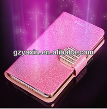 Women Genuine Leather Flip Wallet Phone Case for Samsung Galaxy Note 3