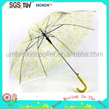 ladies fashion abaya advertising kids child clear transparent umbrella