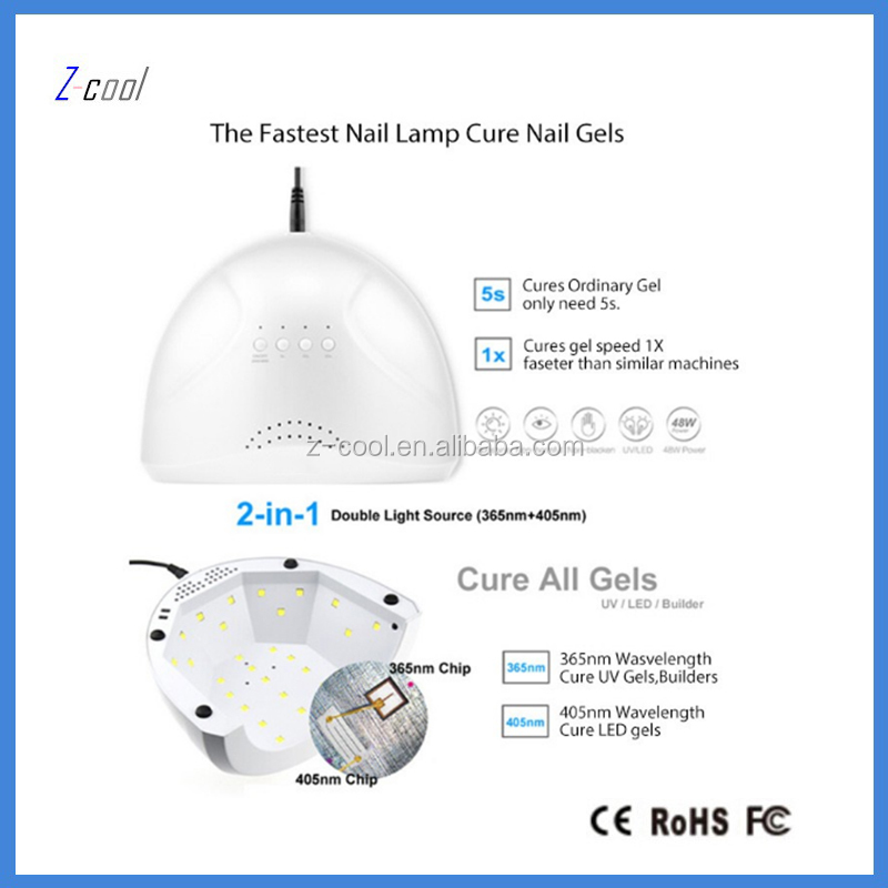 LED Light Lamp Nail Dryer and Curing, Fast drying and Fast Curing, Timing control display\ LED lamp light balls,48W white