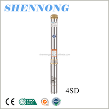 4 inch high pressure agricultural irrigation deep well submersible pump manufacturers 8m3/h