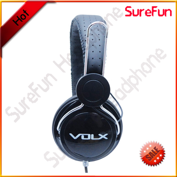 black cool full bass sound stereo computer headphone