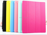 PU Leather cover cases for ipad mini 3 triple-pleated with smart sleep